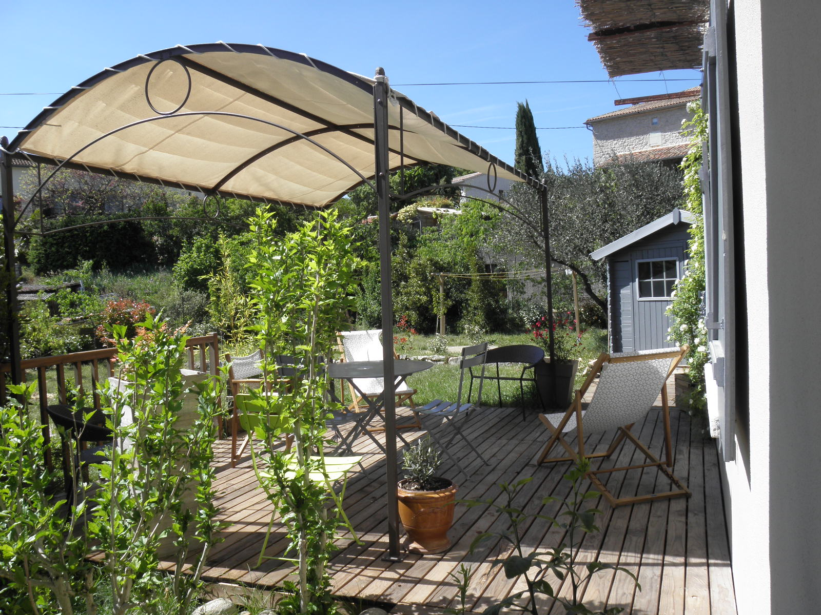 Grande terrasse privée